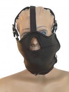 Maske Mundknebel und integrierte Halsfessel - 0517 SM