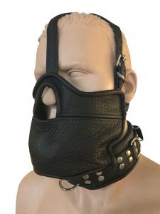 Maske Mundknebel und integrierte Halsfessel - 0517 LXL