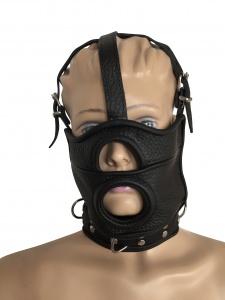 Maske mit Öffnung und integrierter Halsfessel - 0519 LXL