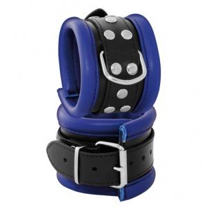 Leder Handfessel  Blau - 0101-2B