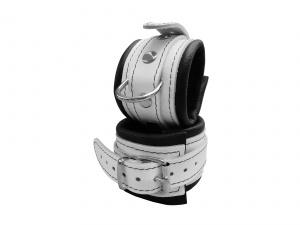 Leder Handfessel Weiß - 0100-2W