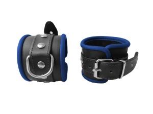 Leder Handfessel Blau - 0299-2B