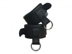 Leder Handfessel Schwarz - 0373-2S