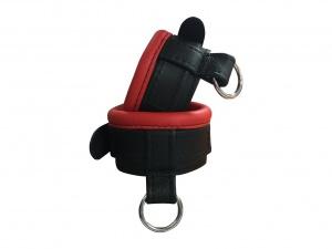 Leder Handfessel Rot - 0373-2R