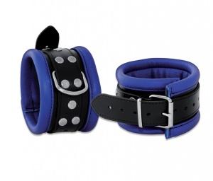Leder Fußfessel Blau - 0101-3B
