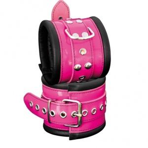 Leder Fußfessel Pink - 0104-3P