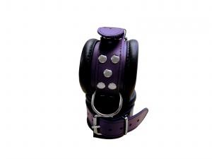 Leder Fußfessel Lila - 0101-3L