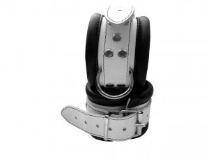 Leder Fußfessel Weiß - 0101-3W