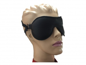 Leder Augenmaske Schwarz - 0371