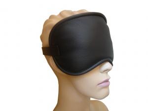 Leder Augenmaske verstellbar Schwarz - 0345