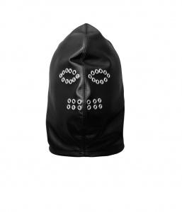 Maske aus weichem Leder mit Ösen verziert - 0129