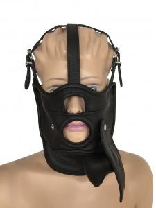 Maske mit Öffnung und abknüpfbarem Mundknebel - 0515