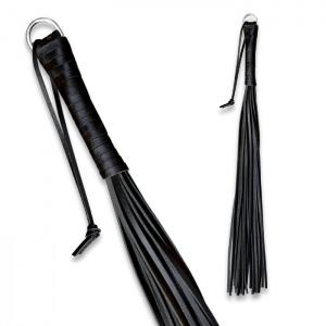 Peitsche aus robustem Leder Schwarz - 0135-1