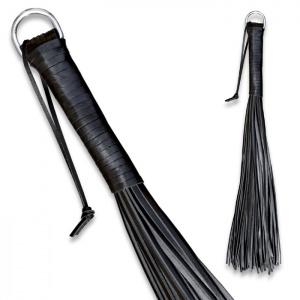Peitsche aus robustem Leder Schwarz - 0135-2