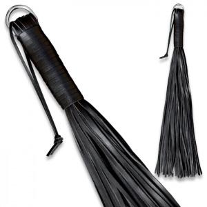 Peitsche aus weichem Leder Schwarz - 0136-2