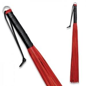 Peitsche aus weichem Leder Rot - 0148-1R