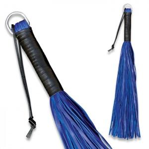 Peitsche aus weichem Leder Blau - 0148-B