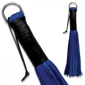 Peitsche aus weichem Leder Blau - 0153-B