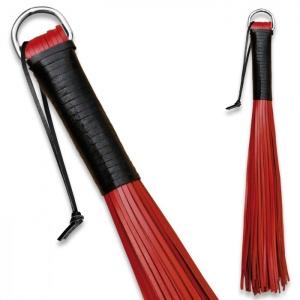 Peitsche aus robustem Leder Rot - 0158-3
