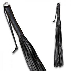 Peitsche aus PVC Schwarz - 0140-1