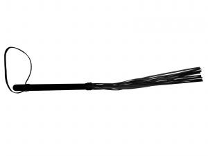 Peitsche aus Leder schwarz - 0279-S