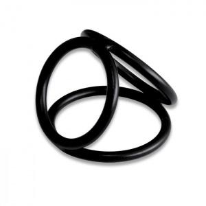 3 Ringe Penis-Hoden-Käfig - 0169-2