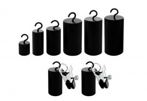 Haken Gewichte Set mit Klammern - 0254-1-6