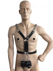Männerharness mit Handfessel - 0432-S LXL