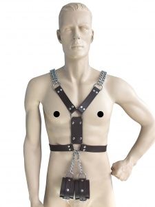 Männerharness mit Handfessel - 0432-BRA SM