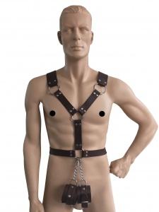 Männerharness mit Handfessel - 0440-BRA SM