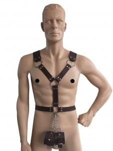 Männerharness mit Handfessel - 0440-BRA LXL