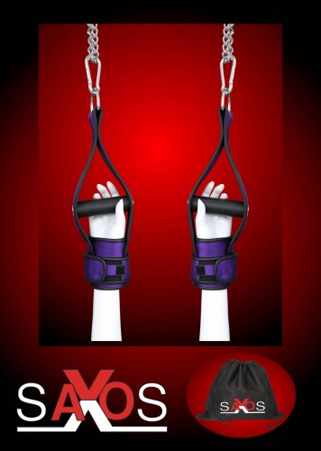 Purple Hanging Cuffs with 2 Carabiners -