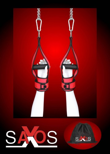 Red Hanging Cuffs with 2 Carabiners -