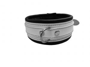 Leder Halsfessel Weiß - 0100-1W